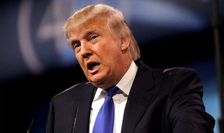 Donald Trump speaking at the 2013 Conservative Political Action Conference (CPAC) in National Harbor, Maryland.
