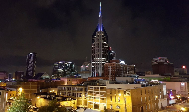 Downtown Nashville at Night
