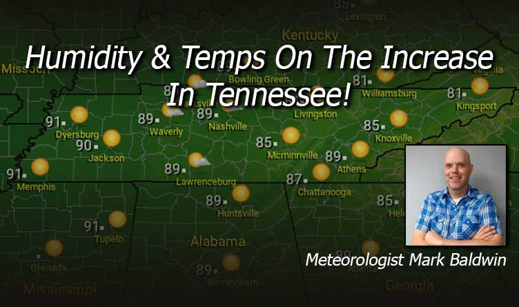 Humidity & Temps On The Increase In Tennessee - Your Tennessee Weather Forecast For Thursday & Friday With Meteorologist Mark Baldwin From Crossville!