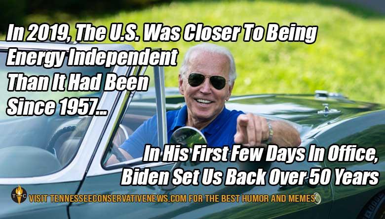 Joe Biden Energy Independent Meme