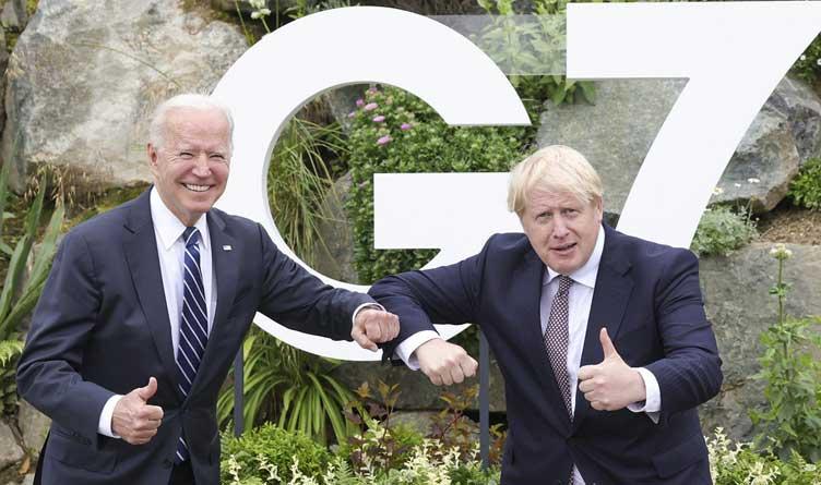 Prime Minister Boris Johnson and President Joe Biden