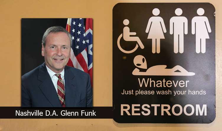 Nashville DA Refuses To Enforce Transgender Bathroom Law