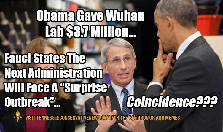 Obama Gave Wuhan Lab $3.7 Million...