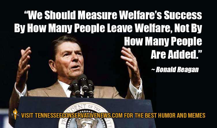 Ronald Reagan Welfare Quote Meme