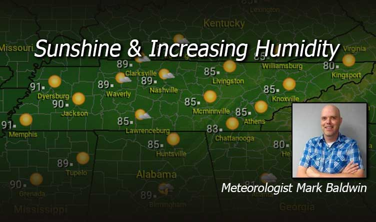 Sunshine & Increasing Humidity Tennessee Weather Forecast Thursday & Friday With Meteorologist Mark Baldwin Crossville
