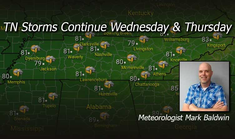 TN Storms Continue Wednesday & Thursday