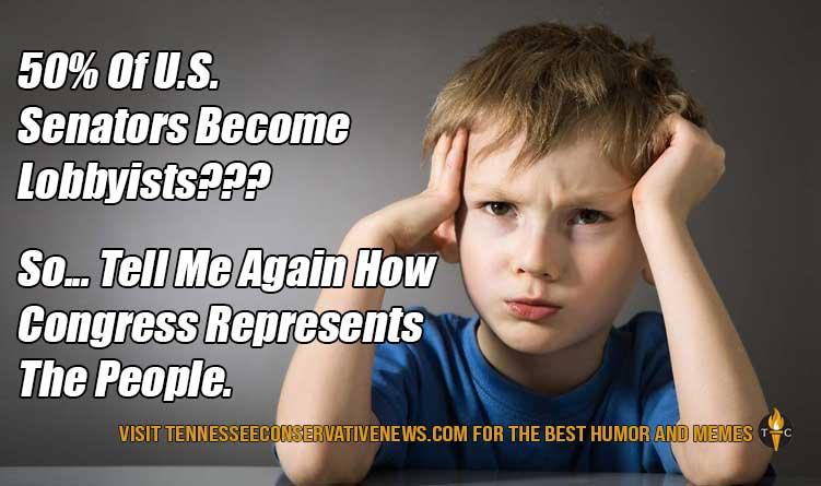50% Of U.S. Senators Become Lobbyists??? Meme