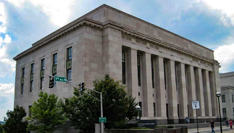 The Tennessee Supreme Court building in Nashville, Tenn.