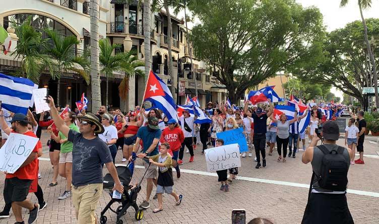 Anti-Cuban Government protest in Naples, FL.