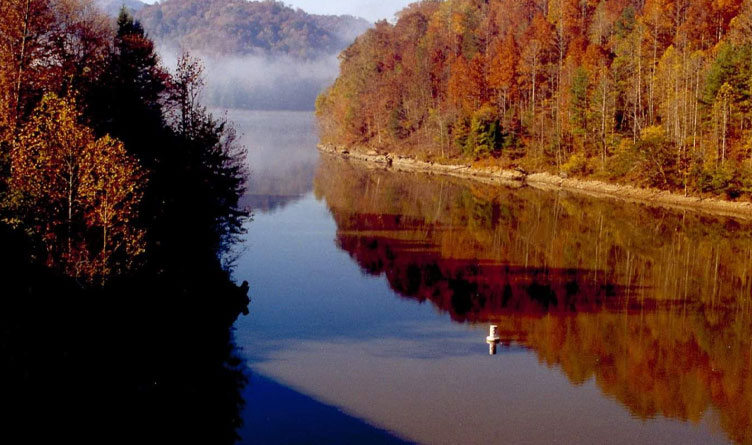 Portion of Kentucky Lake in Big Sandy, Tennessee