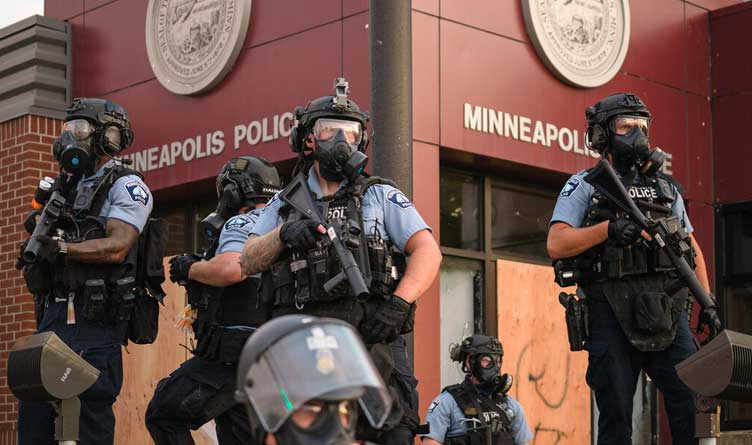 Minneapolis Police Department at the Third Precinct in South Minneapolis.
