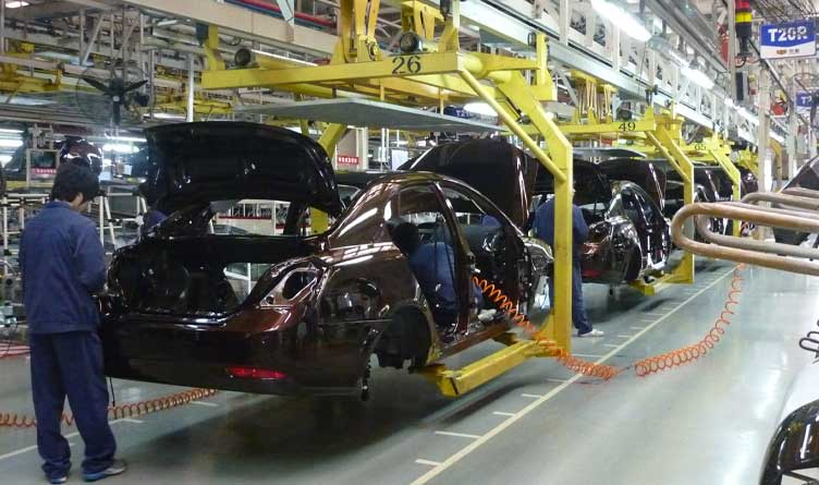 Car assembly line of Geely in Beilun District, Ningbo