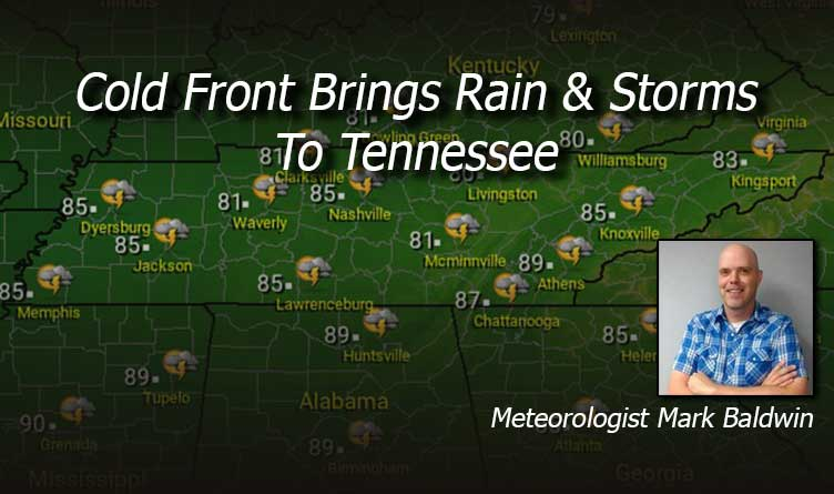 Cold Front Bring Rain & Storms To Tennessee