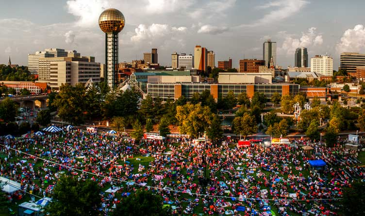 Downtown Knoxville On July 4th Tennessee
