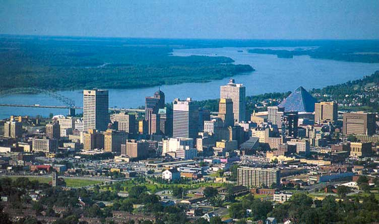 Memphis Tennessee From The Air