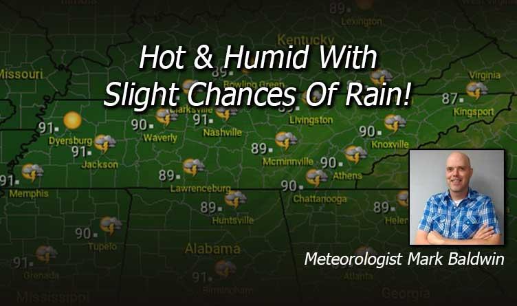 Hot & Humid With Slight Chances Of Rain!