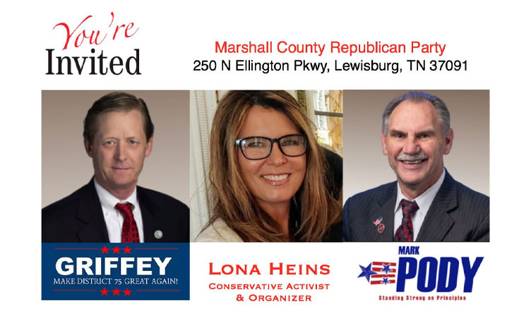 Griffey, Pody And Heins To Speak At Marshall County GOP Event