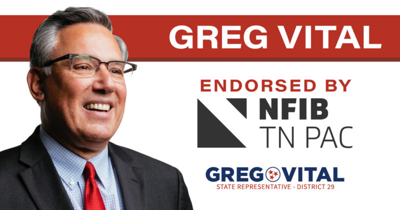 Greg Vital Endorsed by Tennessee Small Business PAC