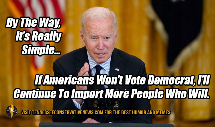 By The Way, It's Really Simple... If Americans Won't Vote Democrat, I'll Continue To Import More People Who Will. Biden Meme