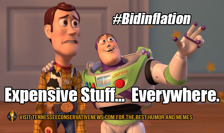 #bidinflation Expensive Stuff...Everywhere - Humor - Meme - Toy Story - Woody Buzz