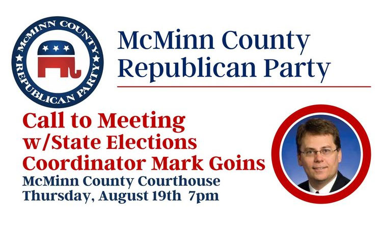 McMinn County GOP Event To Feature TN State Elections Coordinator