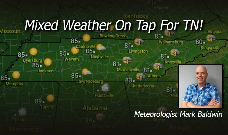 Mixed Weather On Tap For TN!