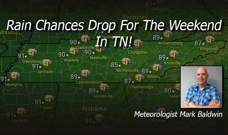 Rain Chances Drop For The Weekend In Tennessee