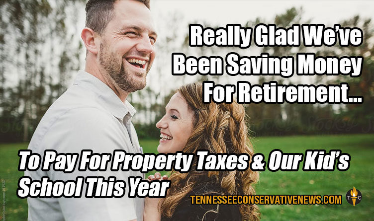 Really Glad We've Been Saving Money For Retirement... To Pay For Property Taxes & Our Kid's School This Year Humor - Meme