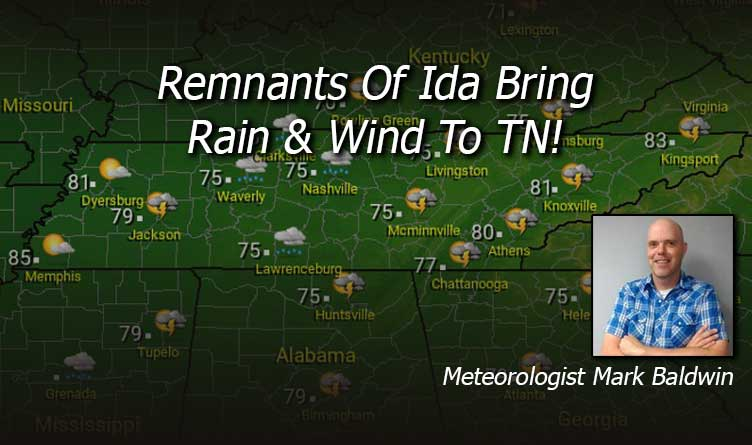 Remnants Of Ida Bring Rain & Wind To TN!