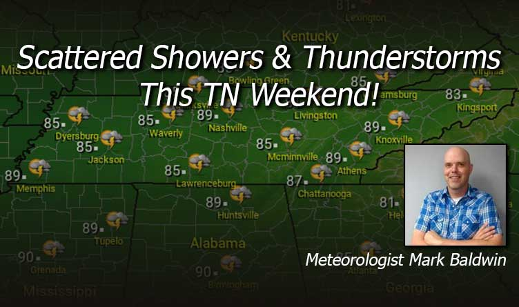 Scattered Showers & Thunderstorms This TN Weekend!