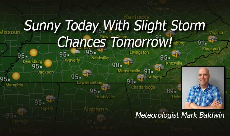 Your Tennessee Weather Forecast For Tuesday & Wednesday With Meteorologist Mark Baldwin From Crossville!