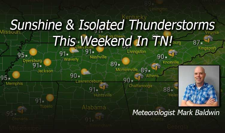 Sunshine & Isolated Thunderstorms This Weekend In TN!