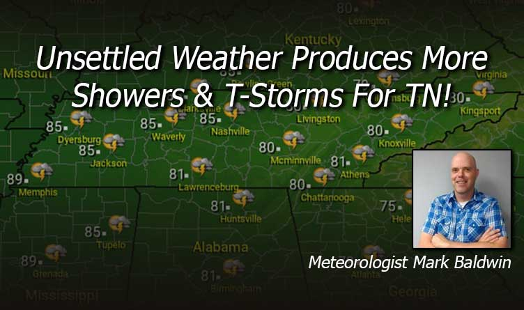 Unsettled Weather Produces More Showers & T-Storms For Tennessee