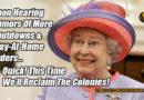 Upon Hearing Rumors... Queen of England Meme