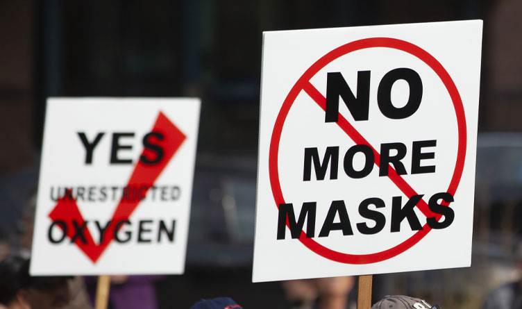 Chattanooga Group Protests Vaccine and Mask Mandates