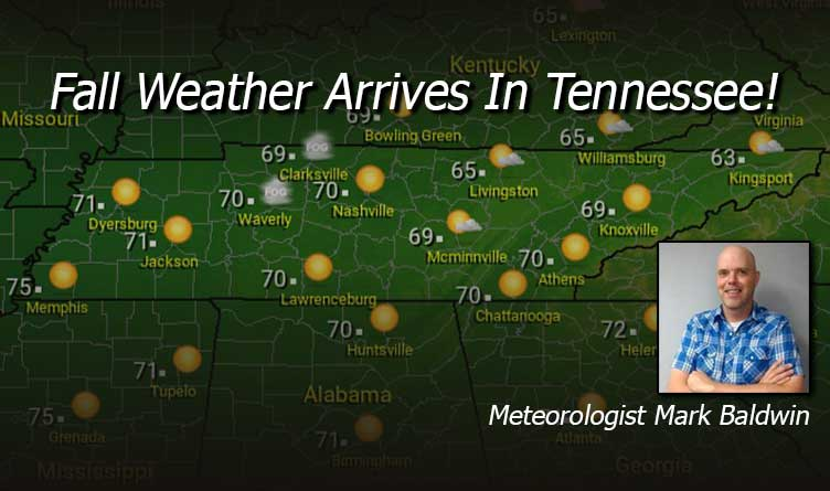 Fall Weather Arrives In Tennessee! - Your Tennessee Weather Forecast For Thursday & Friday With Meteorologist Mark Baldwin From Crossville!
