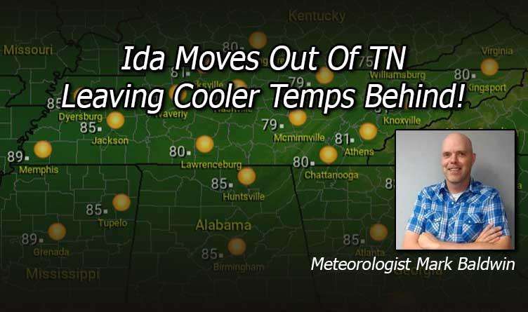 Hurricane Ida Tennessee Cooler Temperatures