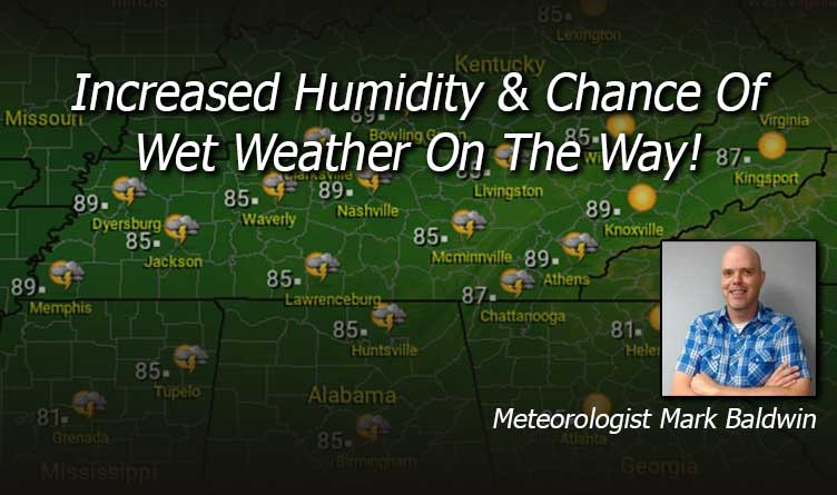 Increased Humidity & Chance Of Wet Weather On The Way!