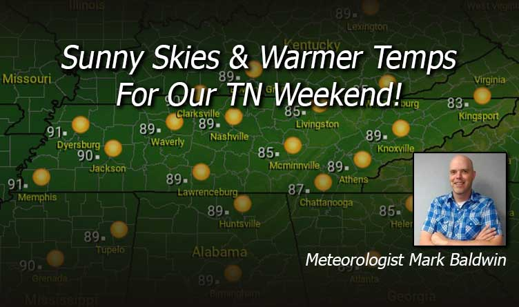 Sunny Skies And Warmer Temps For Our TN Weekend!
