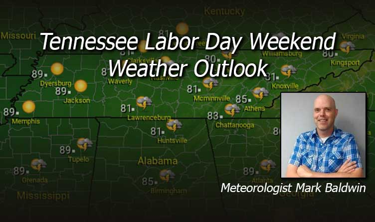 Tennessee Labor Day Weekend Weather Outlook