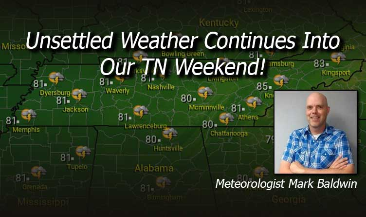 Unsettled Weather Continues Into Our TN Weekend!