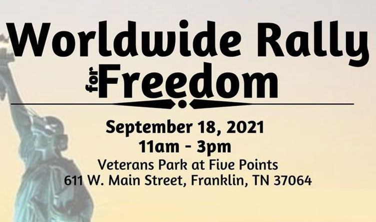 Worldwide Rally For Freedom Saturday In Franklin