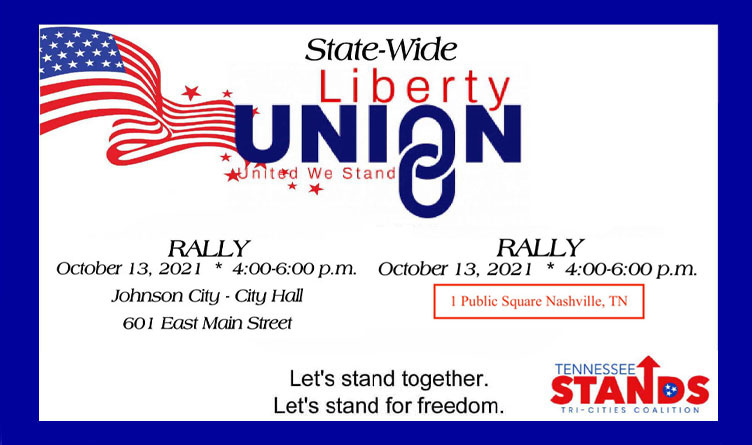 Liberty Union Rallies To Take Place in Johnson City & Nashville