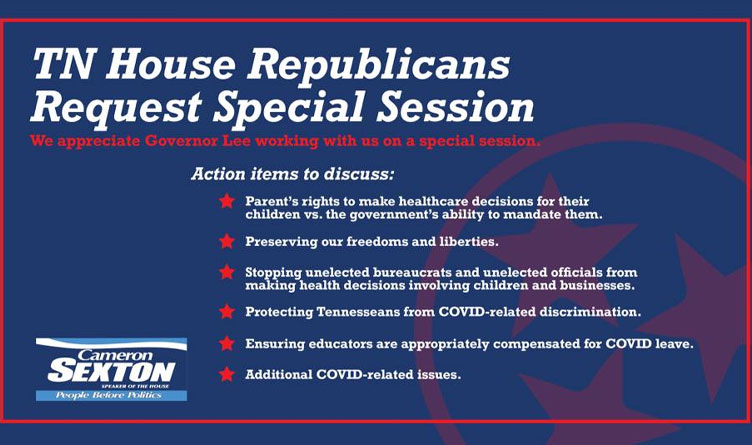 Medical Freedoms Special Session Slated For Late October